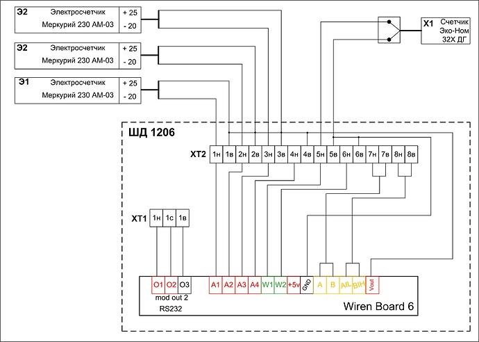 Схема ШД1206