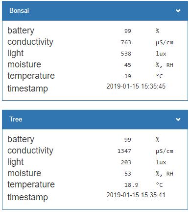 WB MQTT + Xiaomi Mi Flora Plant Sensor / Xiaomi Mi Bluetooth